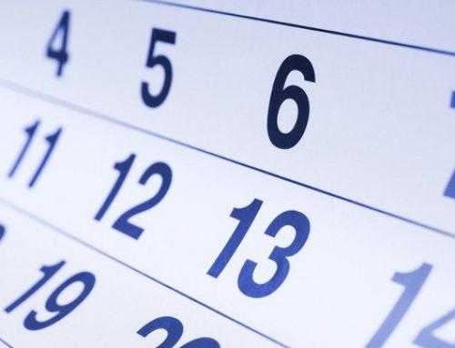 Agenda de eventos de final de ano