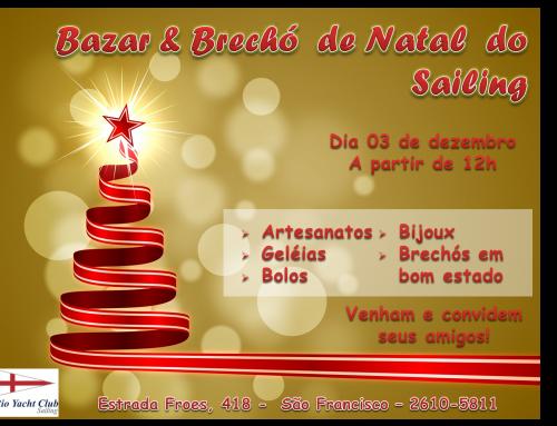 Bazar e Brechó de Natal no próximo domingo, 03/12